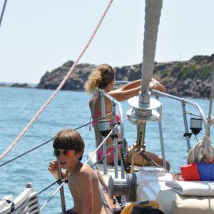 vacanza in barca a vela con la famiglia